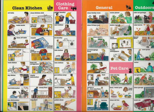 Daily Living Picture Sticker booklet