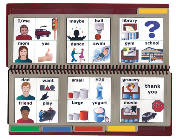 Large Communication Book can be used vertically or horizontally.