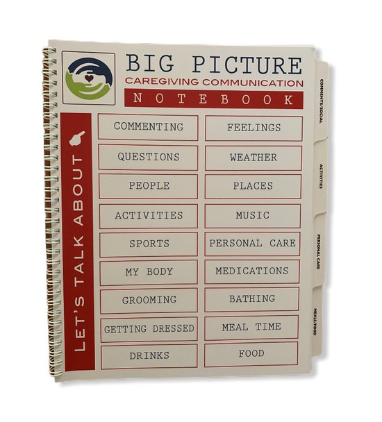 Big Picture Caregiving Notebook Cover showing Table of Contents