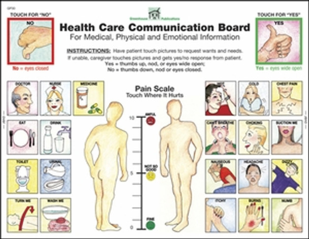 Laminated Health Care Communication Board