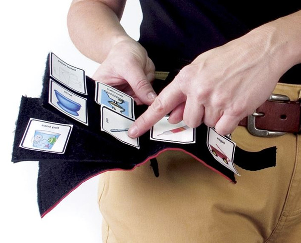 Portable Fabric PECs Communication Wallet with fabric pages