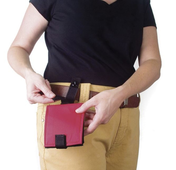 Portable Fabric PECs Communication Wallet - Red
