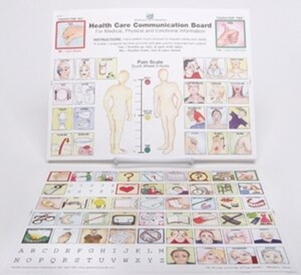 Health Care Communication Board, laminated, two sides