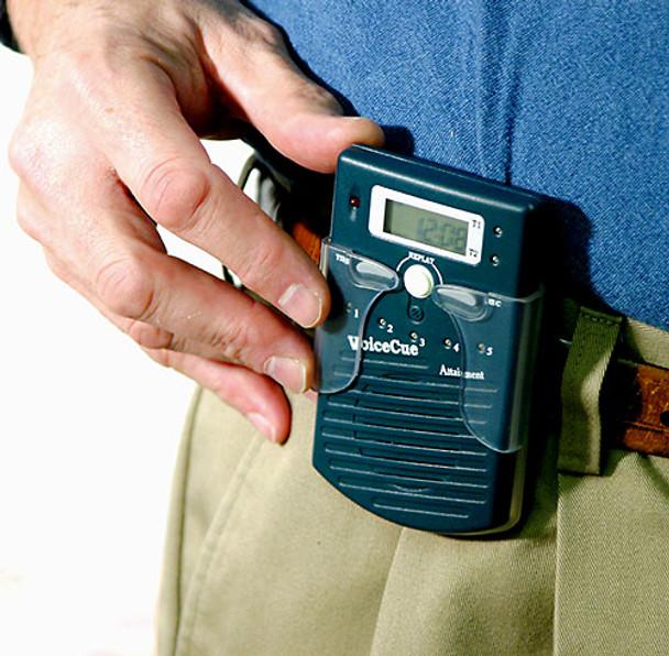 Voice Cue device worn on belf