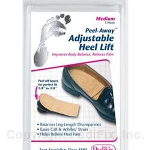 Peel Away Adjustable Heel Lift