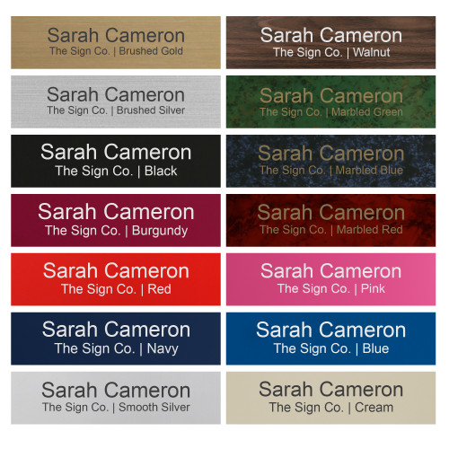 Personalized Name Plate Sign - 2x8 - Engraved - 24 Color Options - Customize