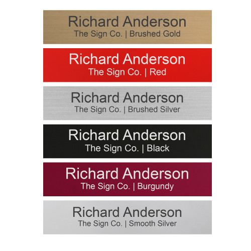 Personalized Name Plate Sign - 2x10 - Engraved - 24 Color Options - Customize