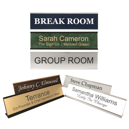 2x8 wall or desk mount signs