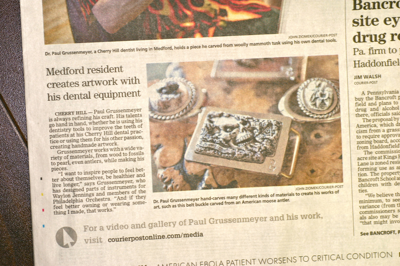 Paul Grussenmeyer's 3-D Artistry Featured in South Jersey's Courier-Post Newspaper