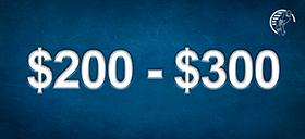 $200-$300