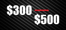 $300-$500