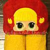 Cheer Doll Peeker Applique Design