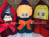 Halloween Sister Peeker Applique Design Bundle Pack