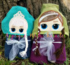 Elsa & Anna Doll Peeker Applique Design Bundle