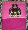 IT Baby Audrey Hepburn Doll Peeker Applique Design
