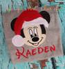 Mr Mouse Santa Applique Design