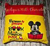 Mr Mouse with Book Applique Design