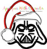Darth Star Battles with Santa Hat Applique Design