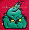 Grinchy Peeker Applique Design