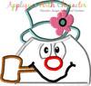 Frostee Snowman Peeker Applique Design