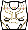 Black Panther Peeker Applique Embroidery Design