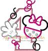 Miss Mouse Four Applique Design