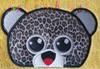 Big Eyed Leopard Peeker Applique Design
