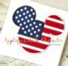 American Flag Mr Mouse Head Applique Design