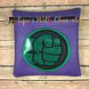 Green Fist Symbol Applique Design