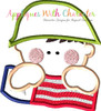Army Man with American Flag Applique Design
