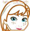 Frozen Anna Peeker Applique Design