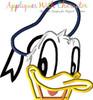 Don Duck Peeker Applique Design