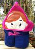 Frozen Anna Tsum Peeker Applique Design