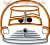 Cars Smoky Peeker Applique Design