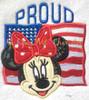 American Flag Miss Mouse  Proud Applique Design