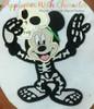 Mr Mouse Skeleton Halloween Applique Design