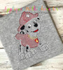 Pup Patrol Marshill Sketch Embroidery Design