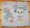 Kissing Mr Mouse & Miss Mouse Sketch Embroidery Design