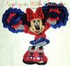 Miss. Mouse Cheerleader Applique Design