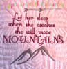 She Will Move Mountains Embroidery Design