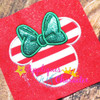 Miss Mouse Bow  Applique Design