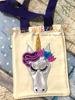 Unicorn with Flowers Heart Peeker Applique Design