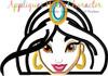 Aladdine Jasmin Peeker Applique Design
