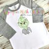 Grinchy Bust Bean Stitch Design