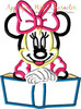 Miss Mouse with Book Applique Design