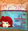 Mermaid Peeker Applique Design on Reading Pillow