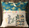 Peter Pan Captain Hook Tinkerbell Sketch Embroidery Design on Reading Pillow