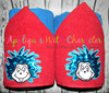 Thing 1 and Thing 2 Seuss Peeker Applique Design