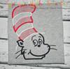 Cat Hat Peeker Sketch Embroidery Design