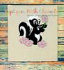 Bambie Flower Skunk Full Body Applique Design